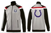 Wholesale NFL Indianapolis Colts Team Logo Jacket Grey