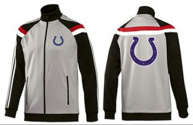 Wholesale Cheap NFL Indianapolis Colts Team Logo Jacket Grey