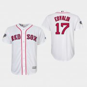 Wholesale Cheap Red Sox #17 Nathan Eovaldi White Cool Base 2018 World Series Stitched Youth MLB Jersey