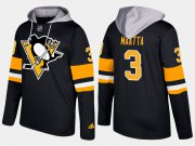 Wholesale Cheap Penguins #3 Olli Maatta Black Name And Number Hoodie