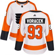 Wholesale Cheap Adidas Flyers #93 Jakub Voracek White Road Authentic Women's Stitched NHL Jersey