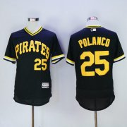 Wholesale Pirates #25 Gregory Polanco Black Flexbase Authentic Collection Cooperstown Stitched Baseball Jersey