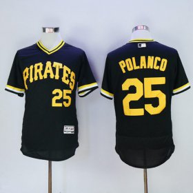 Wholesale Cheap Pirates #25 Gregory Polanco Black Flexbase Authentic Collection Cooperstown Stitched MLB Jersey