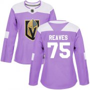 Wholesale Cheap Adidas Golden Knights #75 Ryan Reaves Purple Authentic Fights Cancer Women's Stitched NHL Jersey