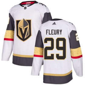 Wholesale Cheap Adidas Golden Knights #29 Marc-Andre Fleury White Road Authentic Stitched NHL Jersey