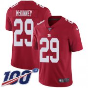 Wholesale Cheap Nike Giants #29 Xavier McKinney Red Alternate Men's Stitched NFL 100th Season Vapor Untouchable Limited Jersey
