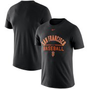 Wholesale Cheap San Francisco Giants Nike Away Practice T-Shirt Black