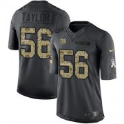 Wholesale Cheap Nike Giants #56 Lawrence Taylor Black Youth Stitched NFL Limited 2016 Salute to Service Jersey