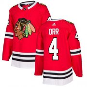Wholesale Cheap Adidas Blackhawks #4 Bobby Orr Red Home Authentic Stitched NHL Jersey
