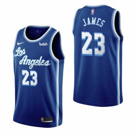 Wholesale Cheap Los Angeles Lakers #23 Lebron James Blue 2019-20 Classic Edition Stitched NBA Jersey