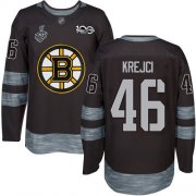 Wholesale Cheap Adidas Bruins #46 David Krejci Black 1917-2017 100th Anniversary Stanley Cup Final Bound Stitched NHL Jersey