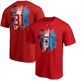 Wholesale Cheap Washington Nationals #31 Max Scherzer Majestic 2019 Spring Training Name & Number T-Shirt Red