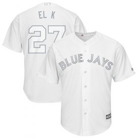 "Wholesale Cheap Blue Jays #27 Vladimir Guerrero Jr. White ""El K\"" Players Weekend Cool Base Stitched MLB Jersey"
