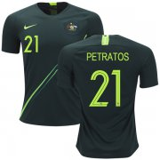 Wholesale Cheap Australia #21 Petratos Away Soccer Country Jersey