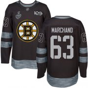 Wholesale Cheap Adidas Bruins #63 Brad Marchand Black 1917-2017 100th Anniversary Stanley Cup Final Bound Stitched NHL Jersey