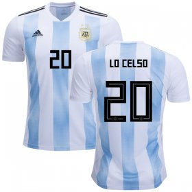 Wholesale Cheap Argentina #20 Lo Celso Home Kid Soccer Country Jersey