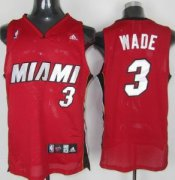 Wholesale Cheap Miami Heat #3 Dwyane Wade Red Swingman Jersey