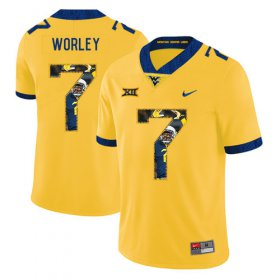 Wholesale Cheap West Virginia Mountaineers 7 Daryl Worley Yellow Fashion College Football Jersey