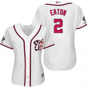 Wholesale Cheap Nationals #2 Adam Eaton White Home 2019 World Series Champions Women's Stitched MLB Jersey