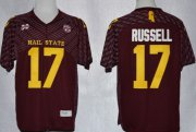Wholesale Cheap Mississippi State Bulldogs #17 Tyler Russell Red Jersey