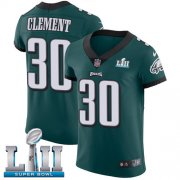Wholesale Cheap Nike Eagles #30 Corey Clement Midnight Green Team Color Super Bowl LII Men's Stitched NFL Vapor Untouchable Elite Jersey