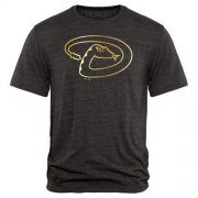 Wholesale Cheap Arizona Diamondbacks Fanatics Apparel Gold Collection Tri-Blend T-Shirt Black