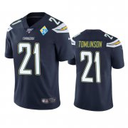 Wholesale Cheap Los Angeles Chargers #21 Ladainian Tomlinson Navy 60th Anniversary Vapor Limited NFL Jersey