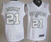 Wholesale Cheap San Antonio Spurs #21 Tim Duncan Revolution 30 Swingman White Big Color Jersey