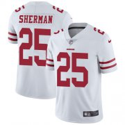 Wholesale Cheap Nike 49ers #25 Richard Sherman White Youth Stitched NFL Vapor Untouchable Limited Jersey