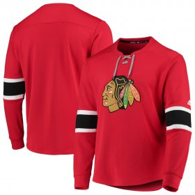 Wholesale Cheap Chicago Blackhawks adidas Platinum Long Sleeve Jersey T-Shirt Red