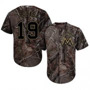 Wholesale Cheap Marlins #19 Miguel Rojas Camo Realtree Collection Cool Base Stitched Youth MLB Jersey