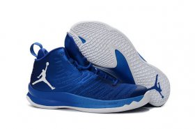 Wholesale Cheap Air Jordan Super Fly 5 X Shoes Blue/White