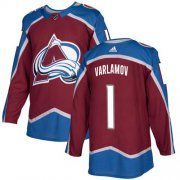 Wholesale Cheap Adidas Avalanche #1 Semyon Varlamov Burgundy Home Authentic Stitched Youth NHL Jersey