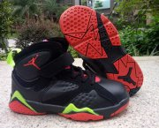 Wholesale Cheap Kid's Air Jordan 7 Shoes Black/Red-Green