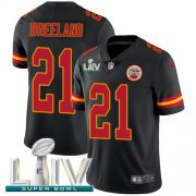 Wholesale Cheap Nike Chiefs #21 Bashaud Breeland Black Super Bowl LIV 2020 Youth Stitched NFL Limited Rush Jersey