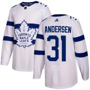 Wholesale Cheap Adidas Maple Leafs #31 Frederik Andersen White Authentic 2018 Stadium Series Stitched Youth NHL Jersey