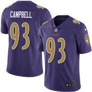 Wholesale Cheap Nike Ravens #93 Calais Campbell Purple Men's Stitched NFL Limited Rush Jersey
