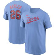 Wholesale Cheap Minnesota Twins #26 Max Kepler Nike Name & Number T-Shirt Light Blue