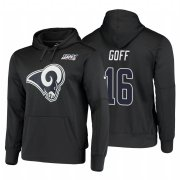 Wholesale Cheap Los Angeles Rams #16 Jared Goff Nike NFL 100 Primary Logo Circuit Name & Number Pullover Hoodie Charcoal