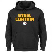 Wholesale Cheap Pittsburgh Steelers Majestic Hot Phrase Pullover Hoodie Black