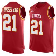 Wholesale Cheap Nike Chiefs #21 Bashaud Breeland Red Team Color Men's Stitched NFL Limited Tank Top Jersey