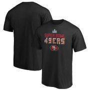 Wholesale Cheap Men's San Francisco 49ers NFL Black Super Bowl LIV Bound Safety Blitz T-Shirt