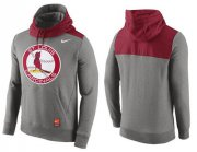Wholesale Cheap Men's St.Louis Cardinals Nike Gray Cooperstown Collection Hybrid Pullover Hoodie_1
