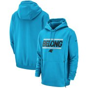 Wholesale Cheap Carolina Panthers Nike Sideline Local Lockup Performance Pullover Hoodie Blue