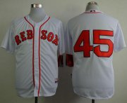 Wholesale Cheap Red Sox #45 Pedro Martinez White Cool Base Stitched MLB Jersey