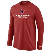 Wholesale Cheap Nike Houston Texans Critical Victory Long Sleeve T-Shirt Red