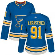 Wholesale Cheap Adidas Blues #91 Vladimir Tarasenko Blue Alternate Authentic Women's Stitched NHL Jersey