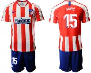 Wholesale Cheap Atletico Madrid #15 Savic Home Soccer Club Jersey