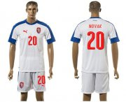 Wholesale Cheap Czech #20 Novak Away Soccer Country Jersey