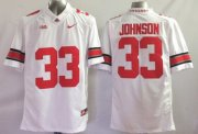 Wholesale Cheap Ohio State Buckeyes #33 Pete Johnson 2014 White Limited Jersey